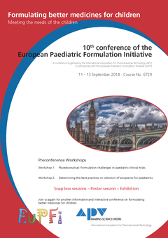APV Mainz: 6729: 10th conference of the European Paediatric